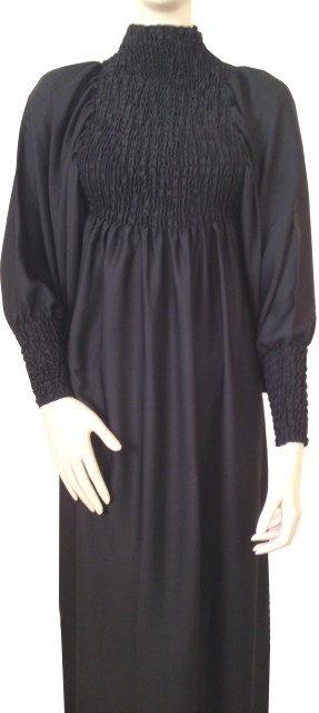 Modern Casual Shirred Dress Sytle Abaya