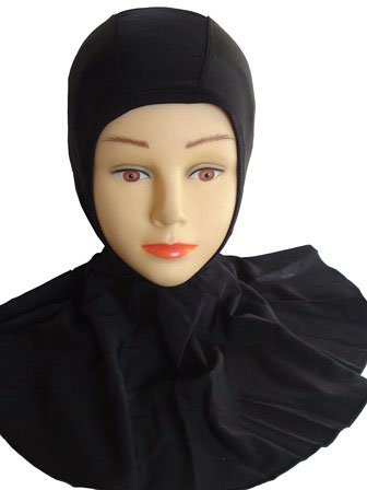 Water Proof Islamic Swimming Hijab Cap - Click Image to Close