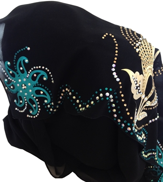gold and teal shayla side view