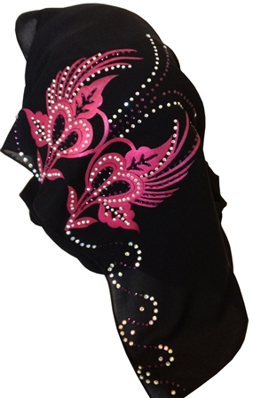 pink motif shayla back view