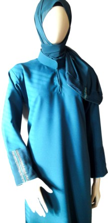 Teal Coloured Abaya