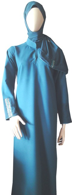 Teal Abaya full view
