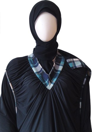 burberry abaya neck view